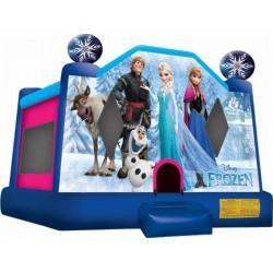 Frozen Moonwalk Bouncy Castle