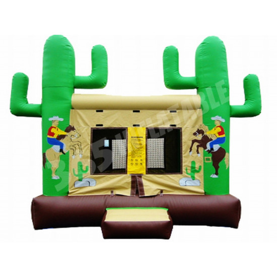 Western Themed Bouncy Castle