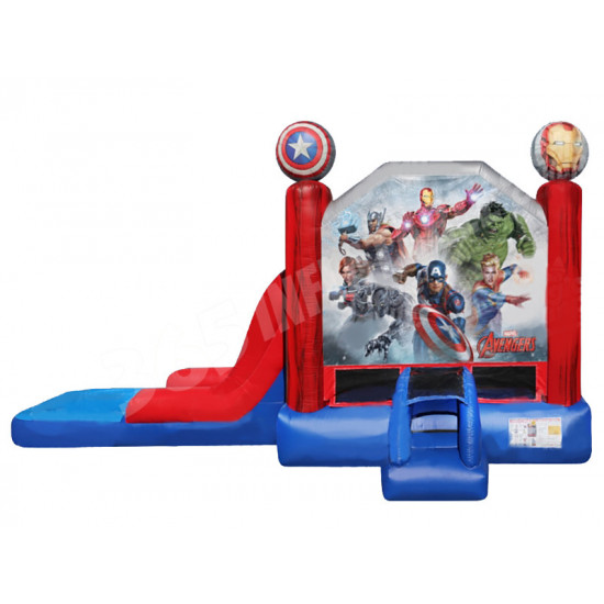 Avengers Bouncy Castle Slide