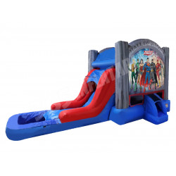 Justice League Bouncy Castle Slide Pool