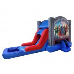 Justice League Bouncy Castle Slide Pool
