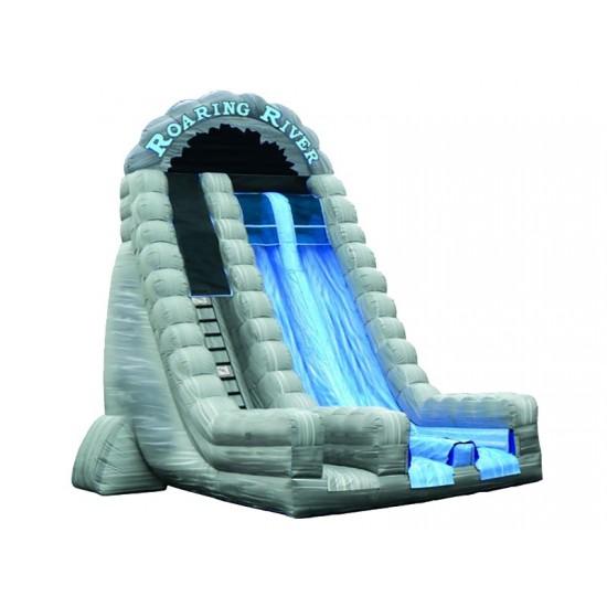 Inflatable Dry Slide 27ft Roaring River Dual Lane Slide