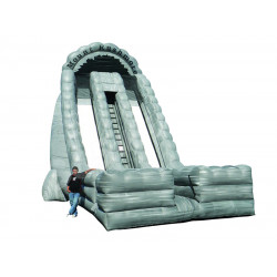 Inflatable Dry Slide 27ft Mount Rushmore Dual Lane Slide