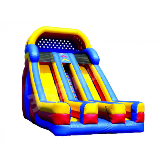 Inflatable Dual Lane Slide With Front Exits