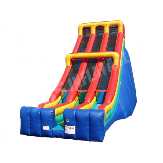 Tall Inflatable Double Lane Slide