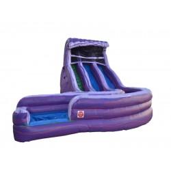 Aqua Purple Water Slide