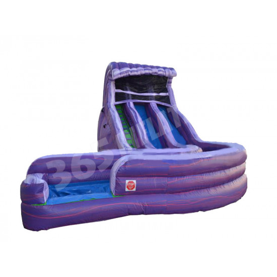 Aqua Purple Water Slide