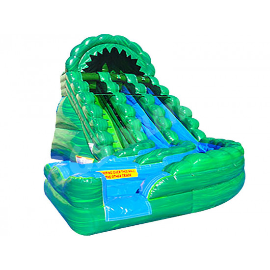 Raging Rapids Water Curve Slide Green Marble