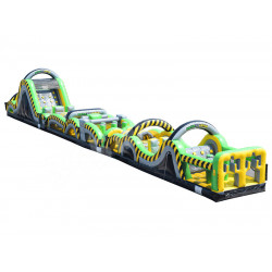 95ft Toxic Rush Inflatable Obstacle Course