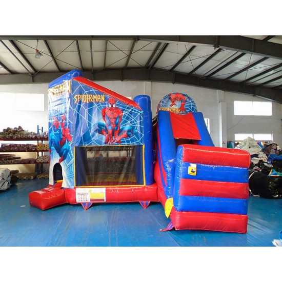 Spiderman Bouncy Castle Slide