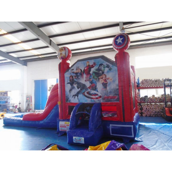 Avengers Bouncy Castle Slide