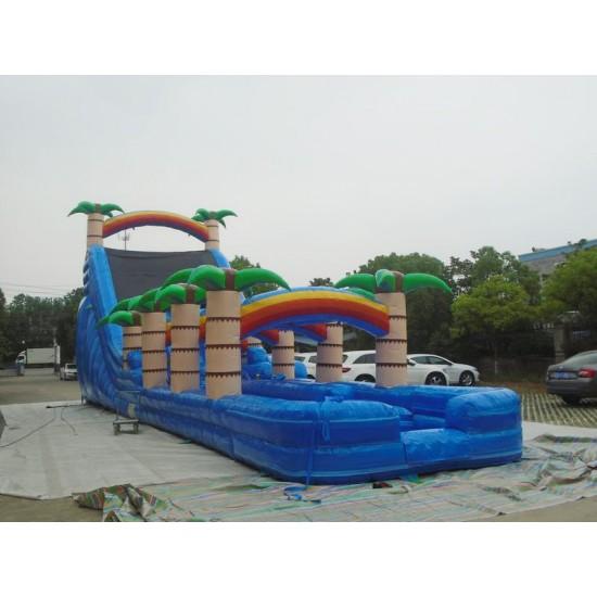 24ft Tropical Dual Lane Water Slide