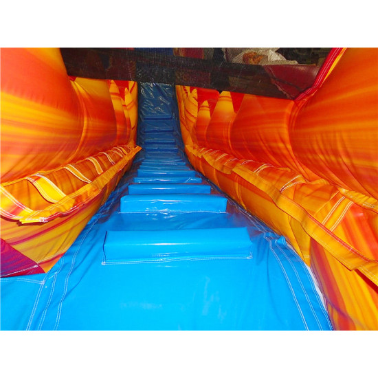 Inflatable Fire And Ice Water Slide