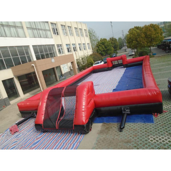 Inflatable Soccer Field Black Red